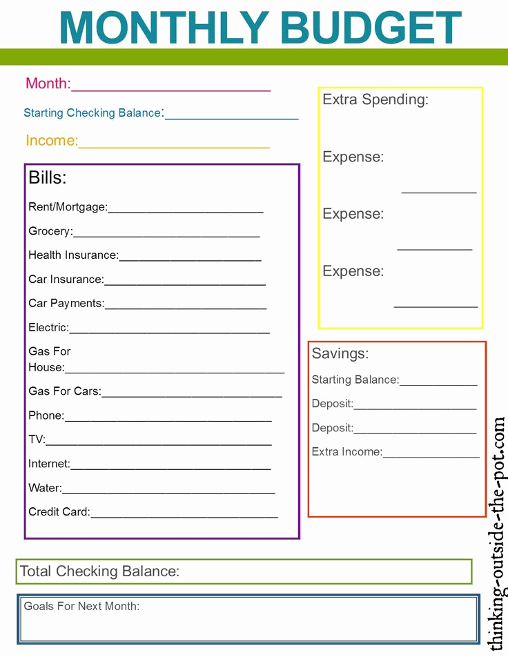 Household Budget Template Printable Luxury Family Bud Template for Excel 2007 or Later Excel for