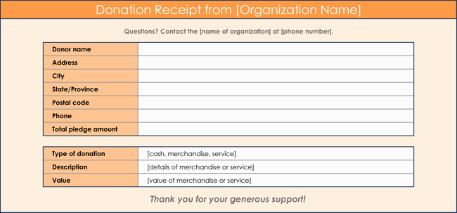 How to Make A Receipt Awesome Donation Receipt Template 12 Free Samples In Word and Excel