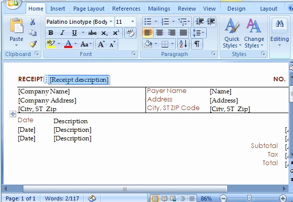 How to Make A Receipt Awesome How to Create Instant Receipts In Microsoft Word