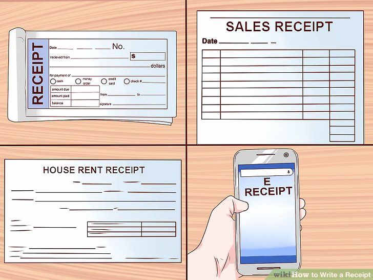 How to Make A Receipt Awesome How to Write A Receipt 9 Steps with Wikihow