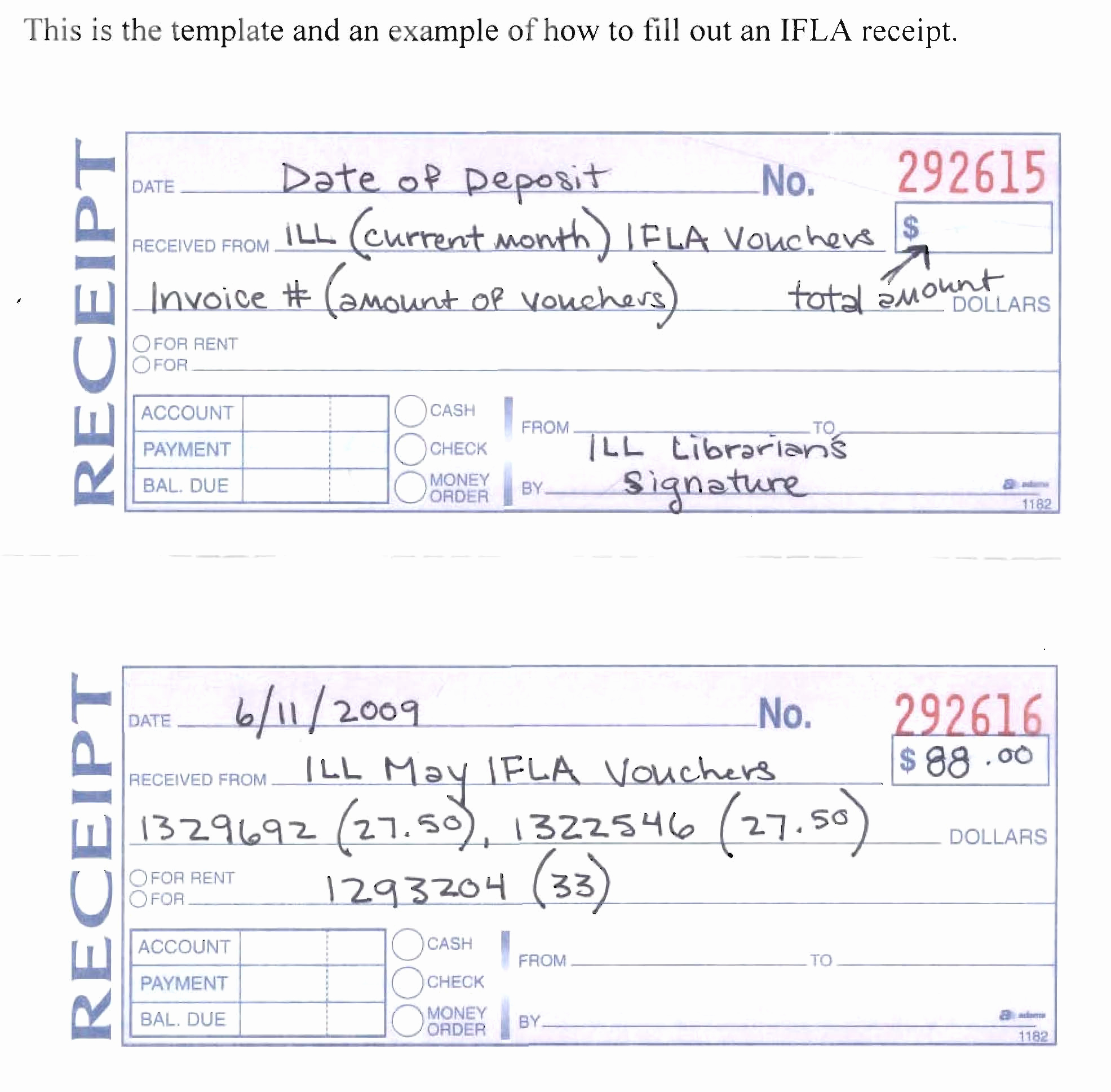 How to Make A Receipt Elegant Wils Ill Lending Services ifla Vouchers