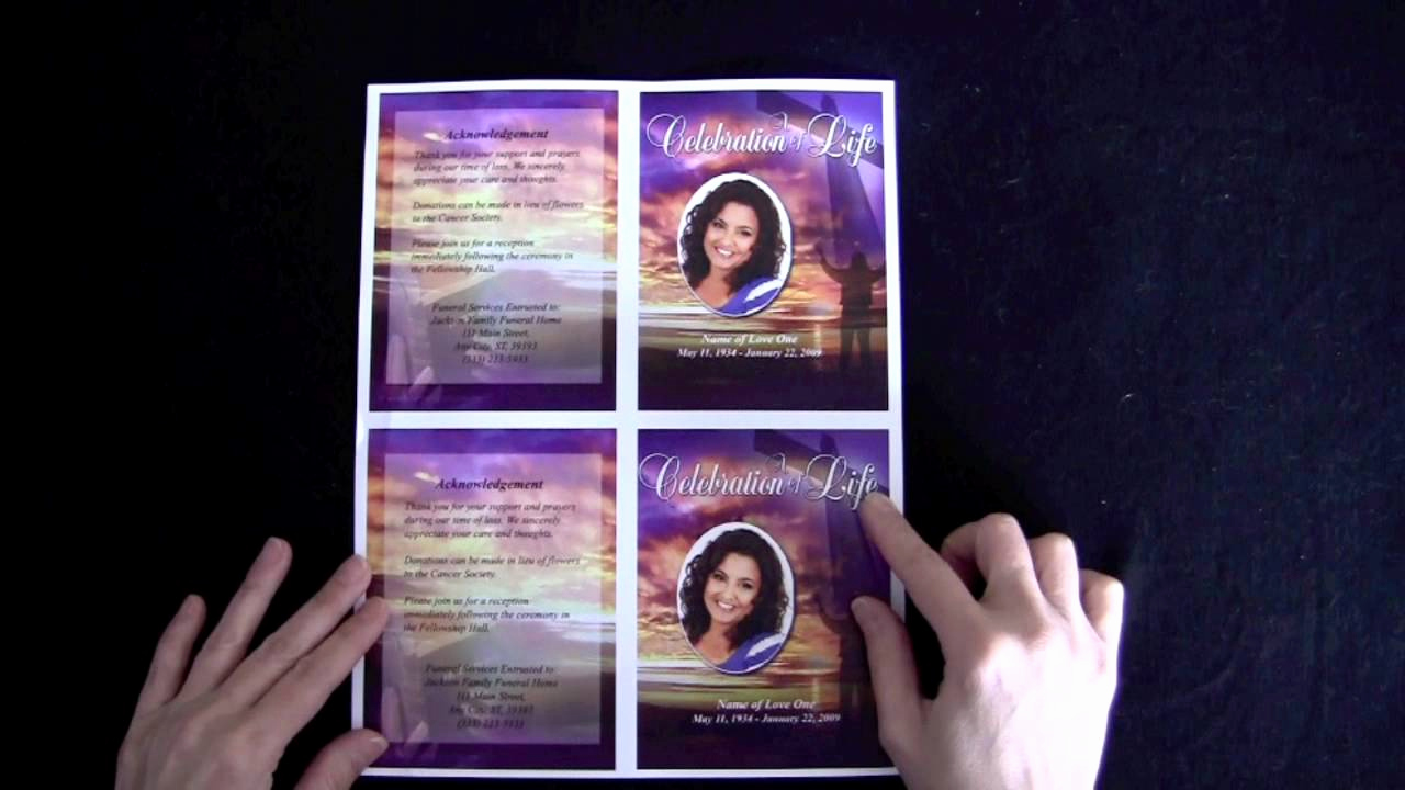 How to Make An Obituary Lovely Funeral Memorial Cards