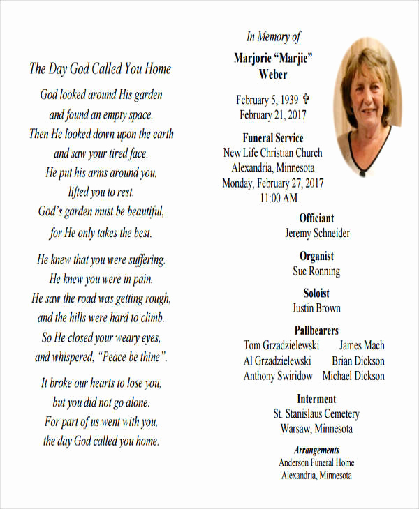 How to Make An Obituary New 36 Printable Obituary