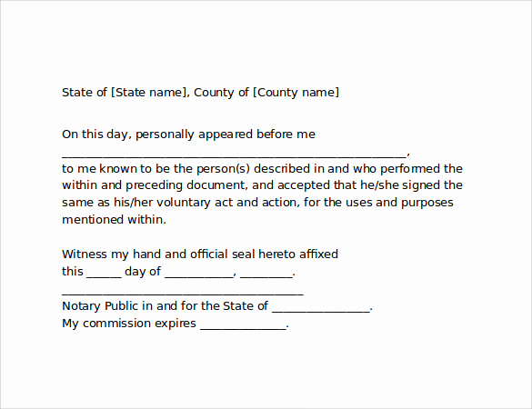 How to Notarize A Letter Elegant 10 Sample Notarized Letters Pdf Word