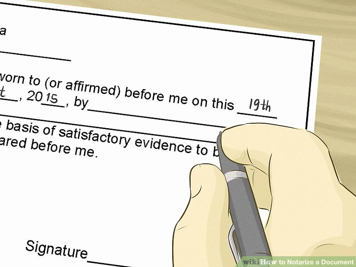 How to Notarize A Letter Fresh How to Notarize A Document with Wikihow