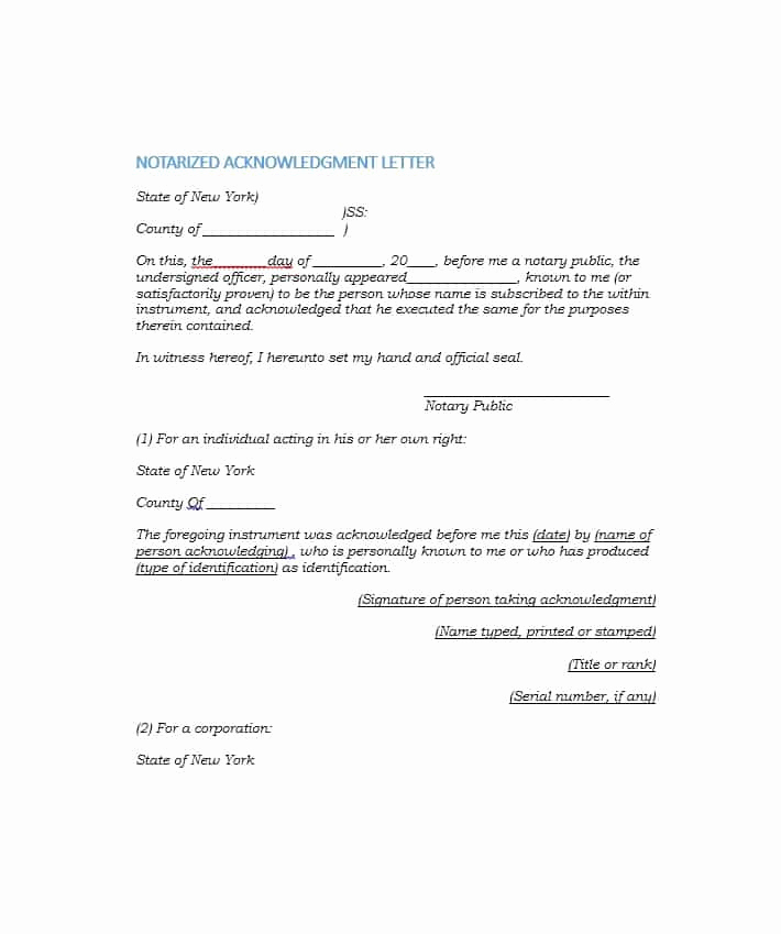 How to Notarize A Letter Fresh Notarized Letter