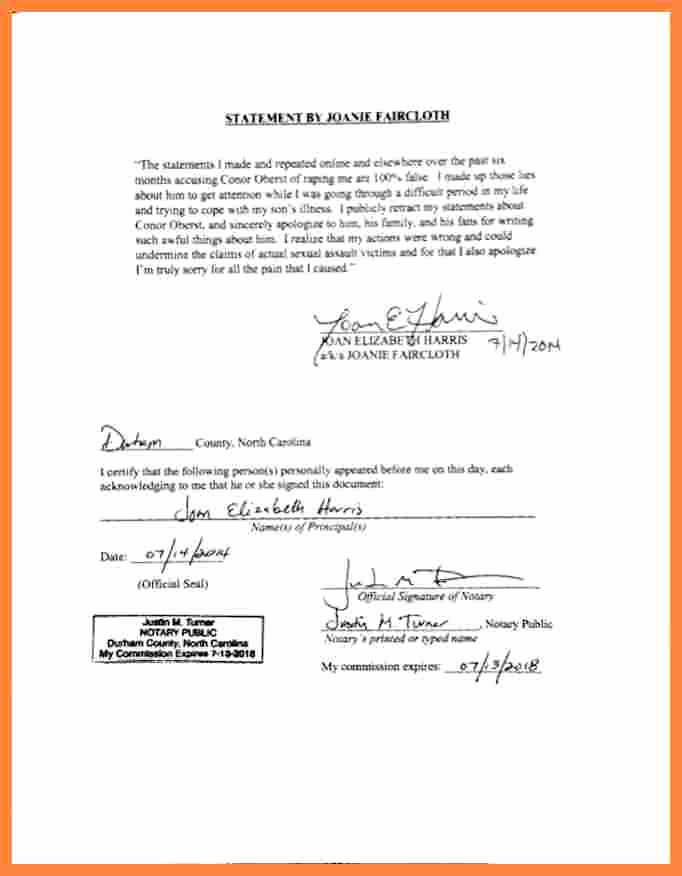 How to Notarize A Letter Lovely 5 Notarized Statement