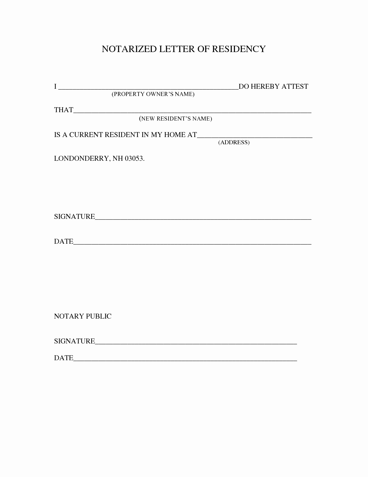 How to Notarize A Letter New Sample Notarized Letter Template