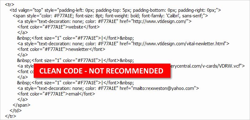 Html Email Signature Template Elegant Designing Coding and Deploying HTML Email Signatures