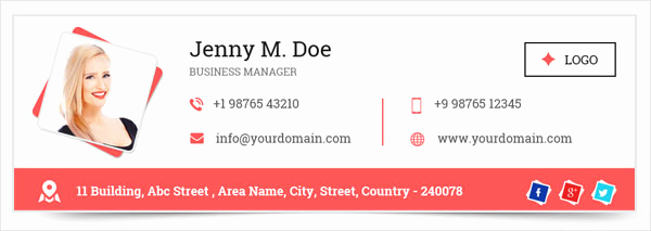 Html Email Signature Template Fresh 50 Best Professional HTML & Outlook Email Signature