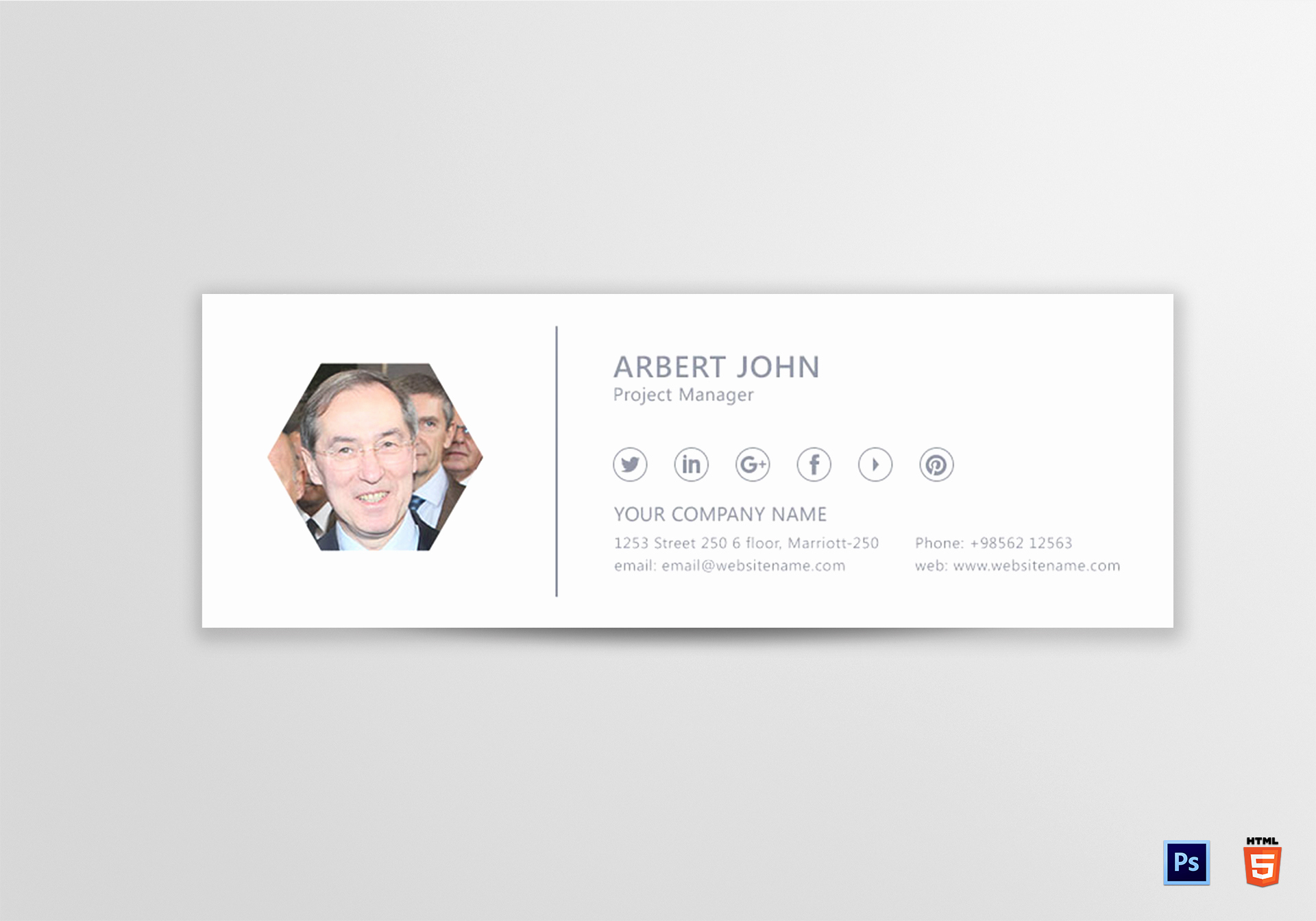 Html Email Signature Template Inspirational Project Manager Email Signature Design Template In Psd HTML