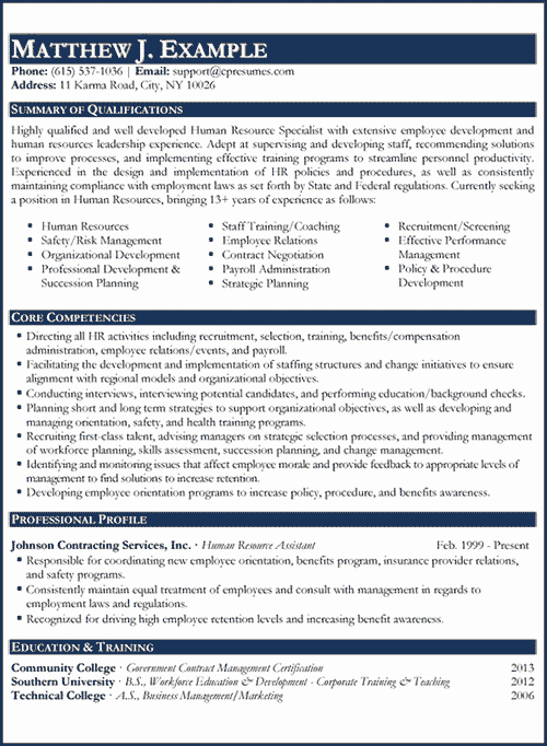 Human Resources Manager Resume Best Of Professional Resume Writing Services
