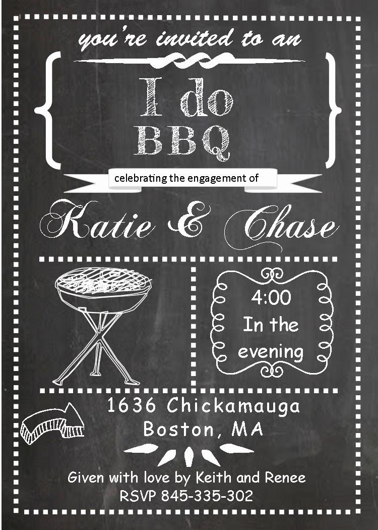 I Do Bbq Invitations Beautiful Engagement Barbecue I Do Bbq Party Invitations New