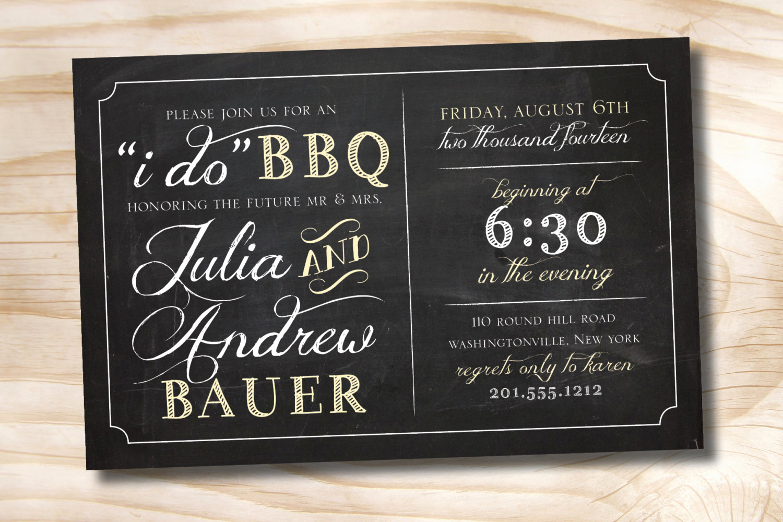 I Do Bbq Invitations Best Of I Do Bbq Rehearsal Dinner Invitation Printable Digital File