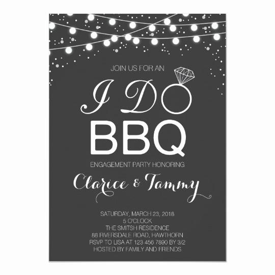 I Do Bbq Invitations Elegant I Do Bbq Invitation Bbq Engagement Party
