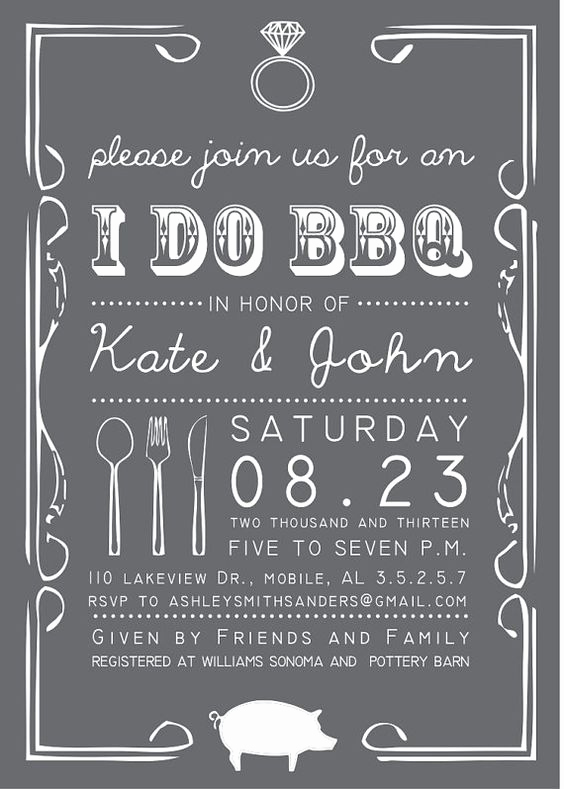 I Do Bbq Invitations Inspirational Couple Shower Couples Shower Invitations and Invitation