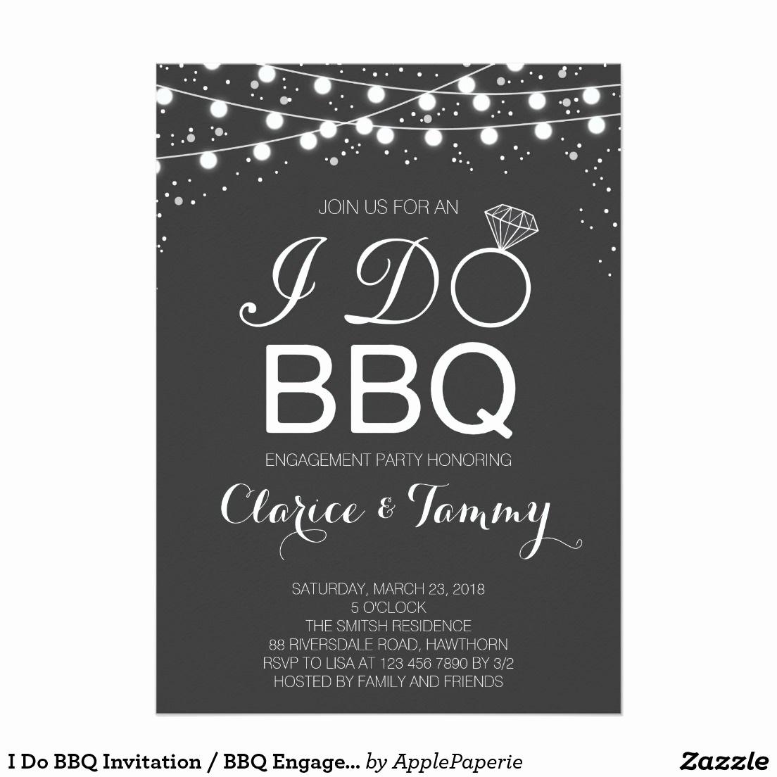 I Do Bbq Invitations Inspirational I Do Bbq Invitation Bbq Engagement Party