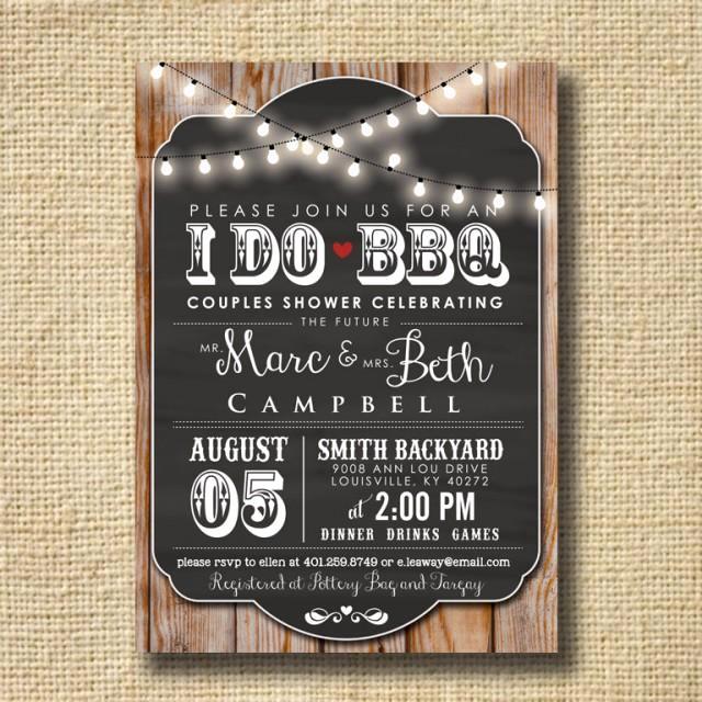 I Do Bbq Invitations Lovely I Do Bbq Invitation Engagement Party Invite Couples Shower