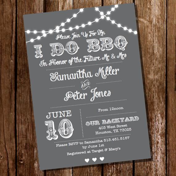 I Do Bbq Invitations New I Do Bbq Lnvitation Gray Engagement Invitation Instantly
