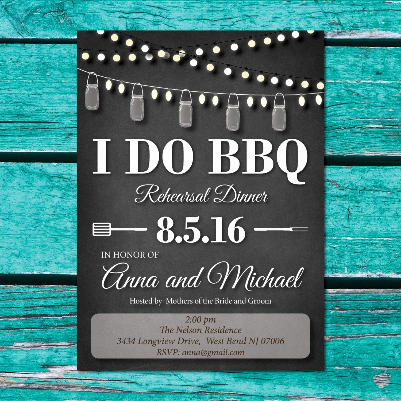I Do Bbq Invitations New I Do Bbq Rehearsal Dinner Invitations Black and White