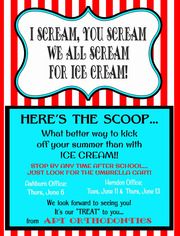 Ice Cream social Flyer Awesome Ice Cream social Flyer Template