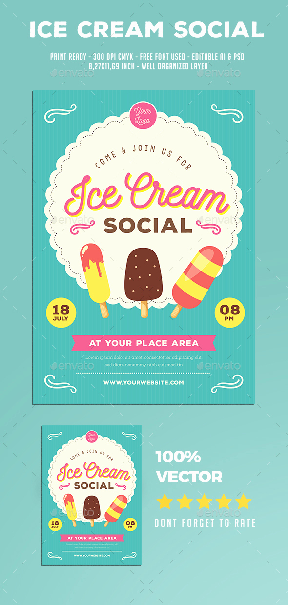 Ice Cream social Flyer Beautiful Ice Cream social Flyer by Guuver