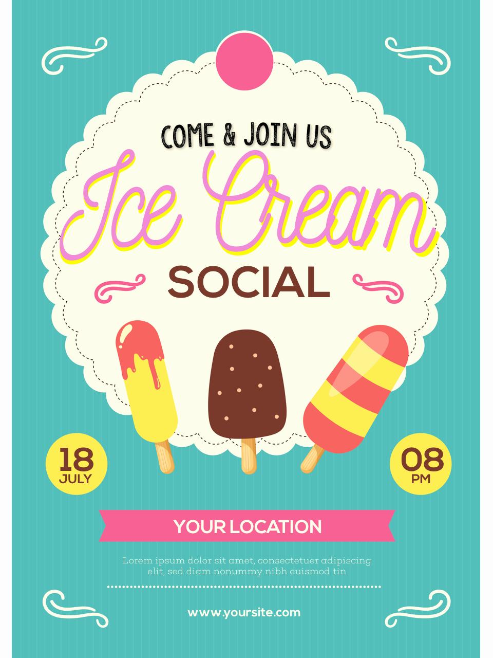 ice cream social flyer