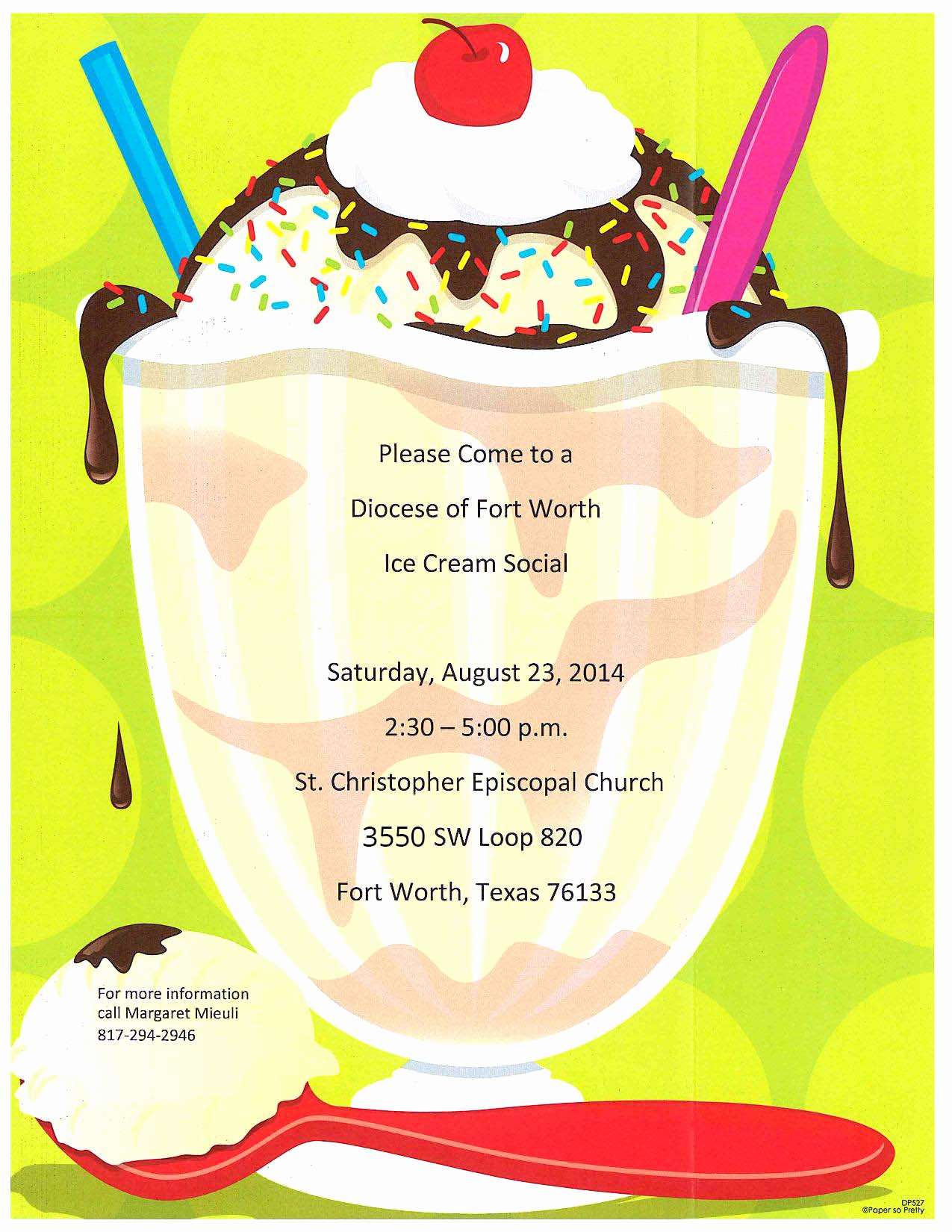 Ice Cream social Flyer Beautiful Yum E to An Ice Cream social at St Christopher On
