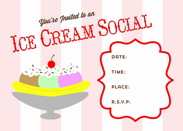 Ice Cream social Flyer Best Of Free Printable Ice Cream social Invite