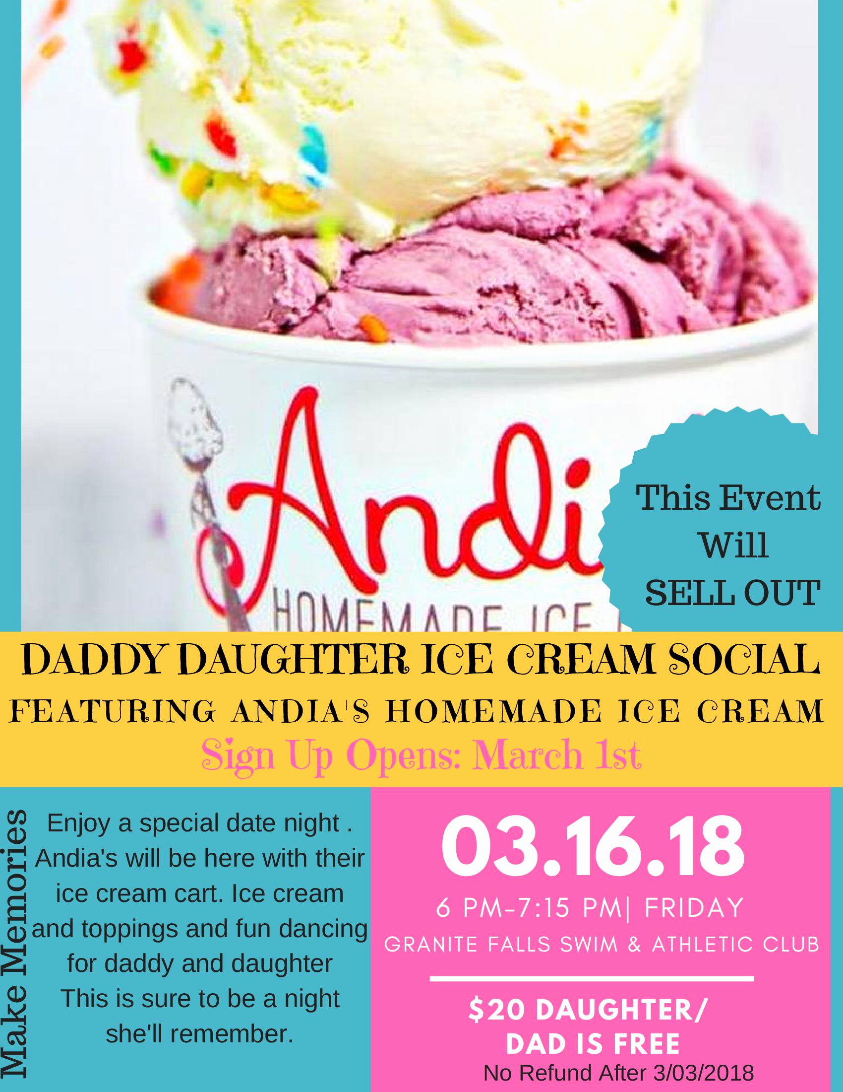Ice Cream social Flyer Best Of Special events Granite Falls Swim & athletic Club