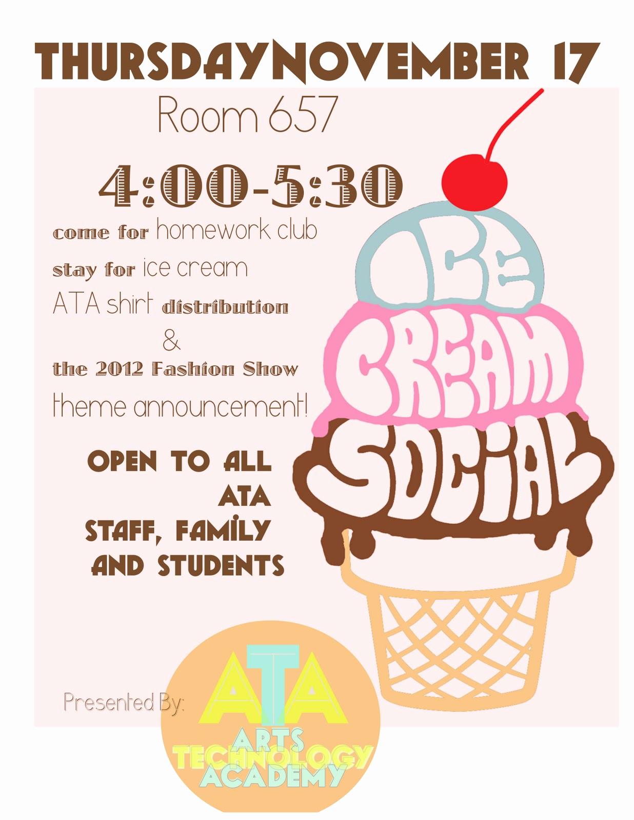 Ice Cream social Flyer Elegant Free Ice Cream social Invites