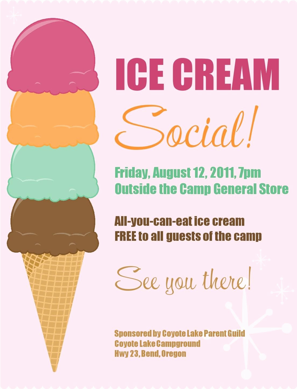 Ice Cream social Flyer Elegant Ice Cream social Free Printable Pta Ideas