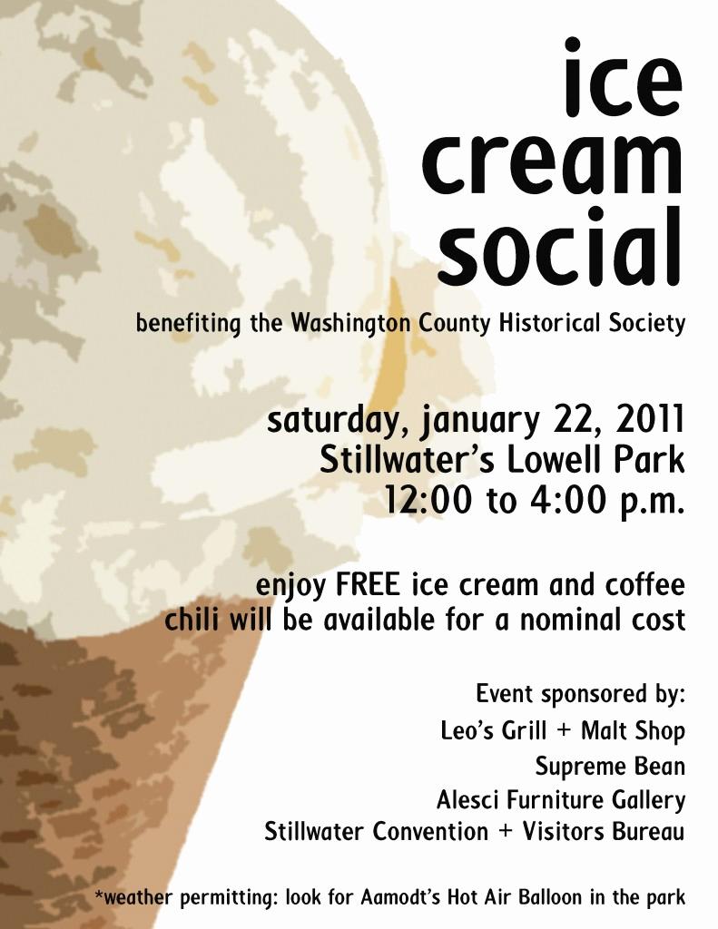 Ice Cream social Flyer Elegant Stillwater Ice Cream social