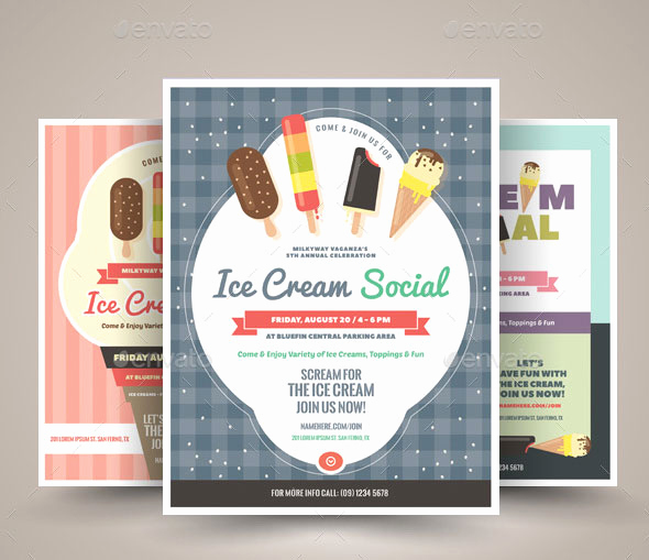 Ice Cream social Flyer Inspirational 25 Beautifully Patterned Flyer Designs