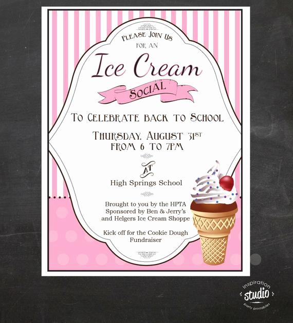 Ice Cream social Flyer Lovely Ice Cream social event Flyer Back to School Ice Cream social