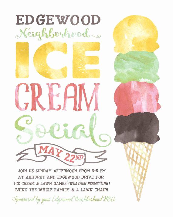 Ice Cream social Flyer Luxury Best 25 Block Party Invites Ideas On Pinterest