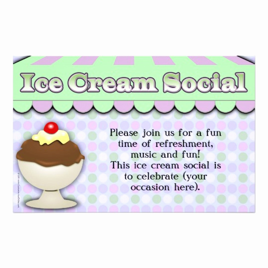 Ice Cream social Flyer Luxury Ice Cream social Purple Green Stripe Sundae Flyer