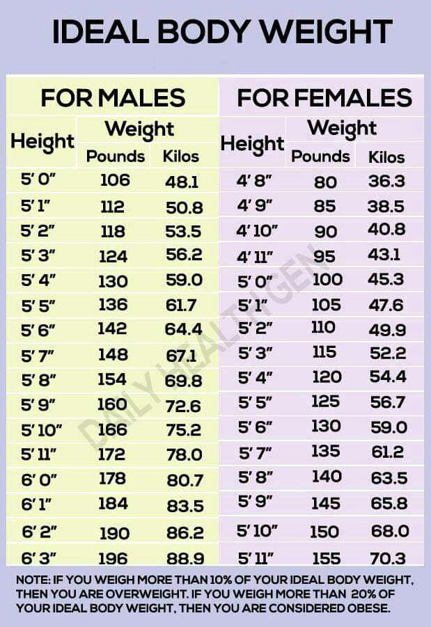 Ideal Height and Weight Chart Elegant Body Weight Chart Workin Out Fitness