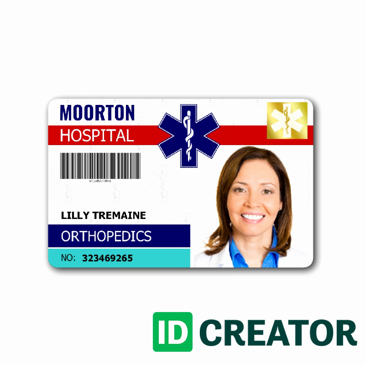 Identification Card Online Free Awesome Id Badge Template Beepmunk