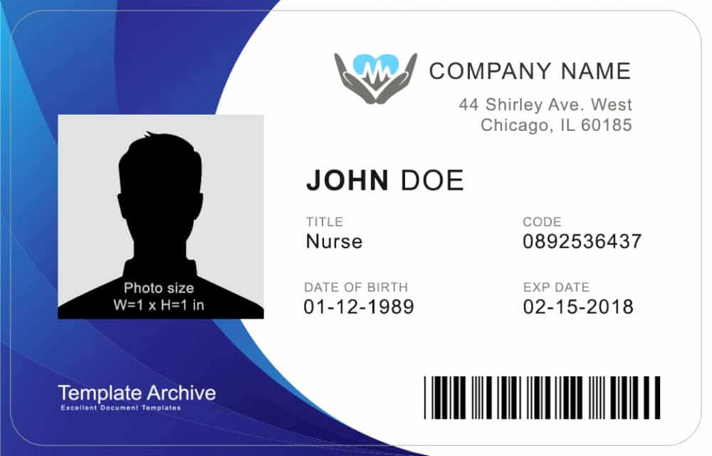 Identification Card Online Free Beautiful 16 Id Badge & Id Card Templates Free Template Archive