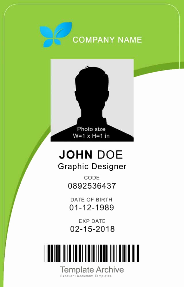 Identification Card Online Free Fresh 16 Id Badge & Id Card Templates Free Template Archive