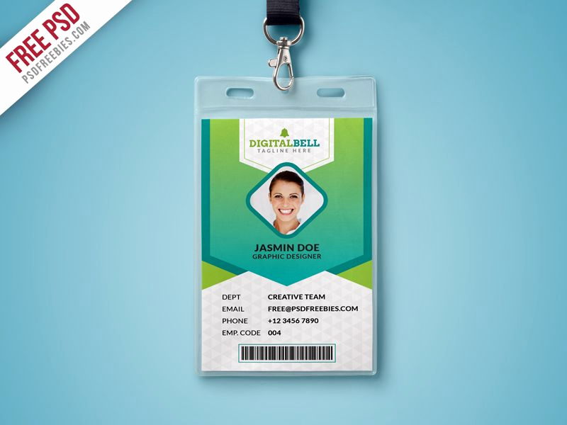 Identification Card Online Free Fresh Nice Multipurpose Identity Card Template Psd