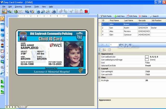 Identification Card Online Free Inspirational Download Easy Card Creator Free 11 20 60