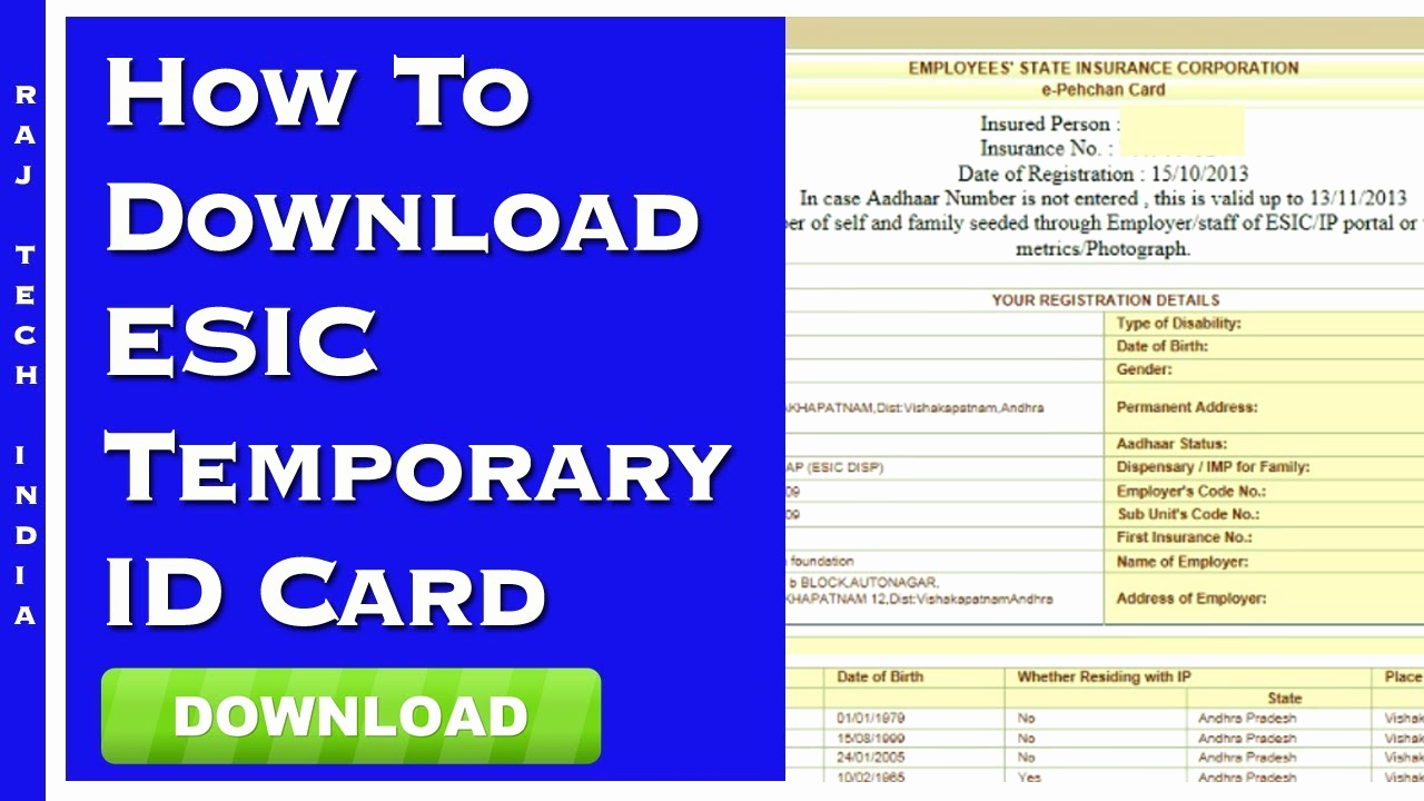 Identification Card Online Free Luxury How to Download Esic Temporary Id Card Line