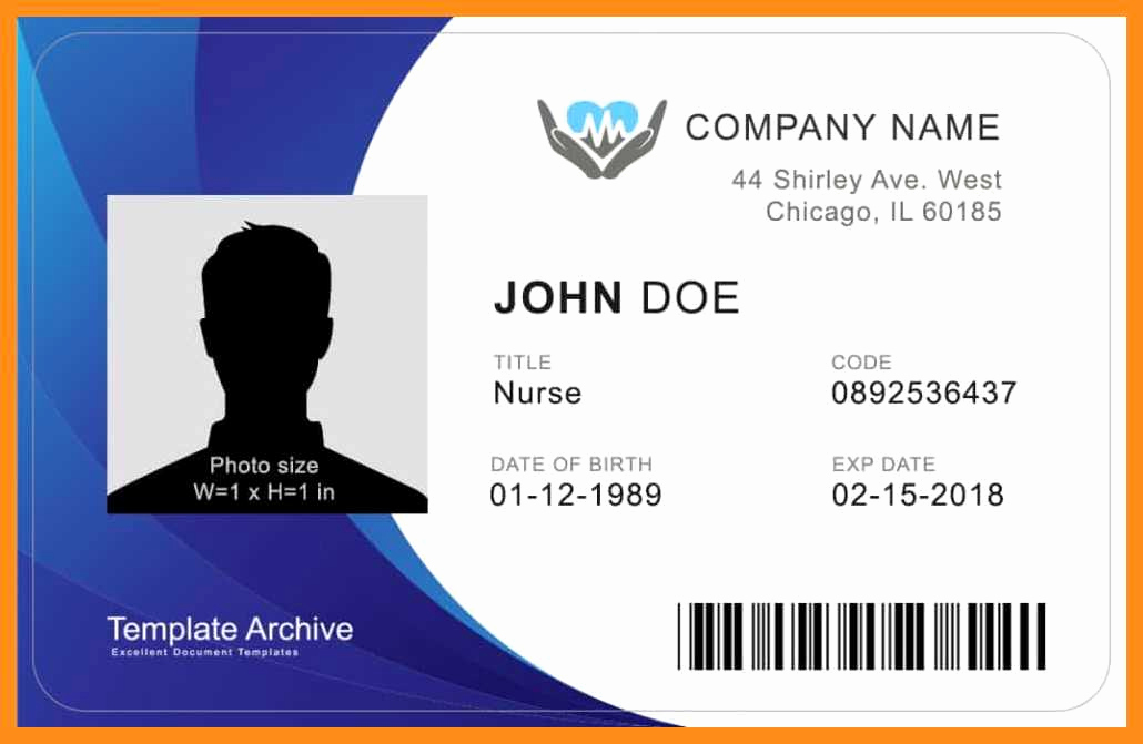 Identification Card Online Free Unique 12 13 Microsoft Word Id Badge Template
