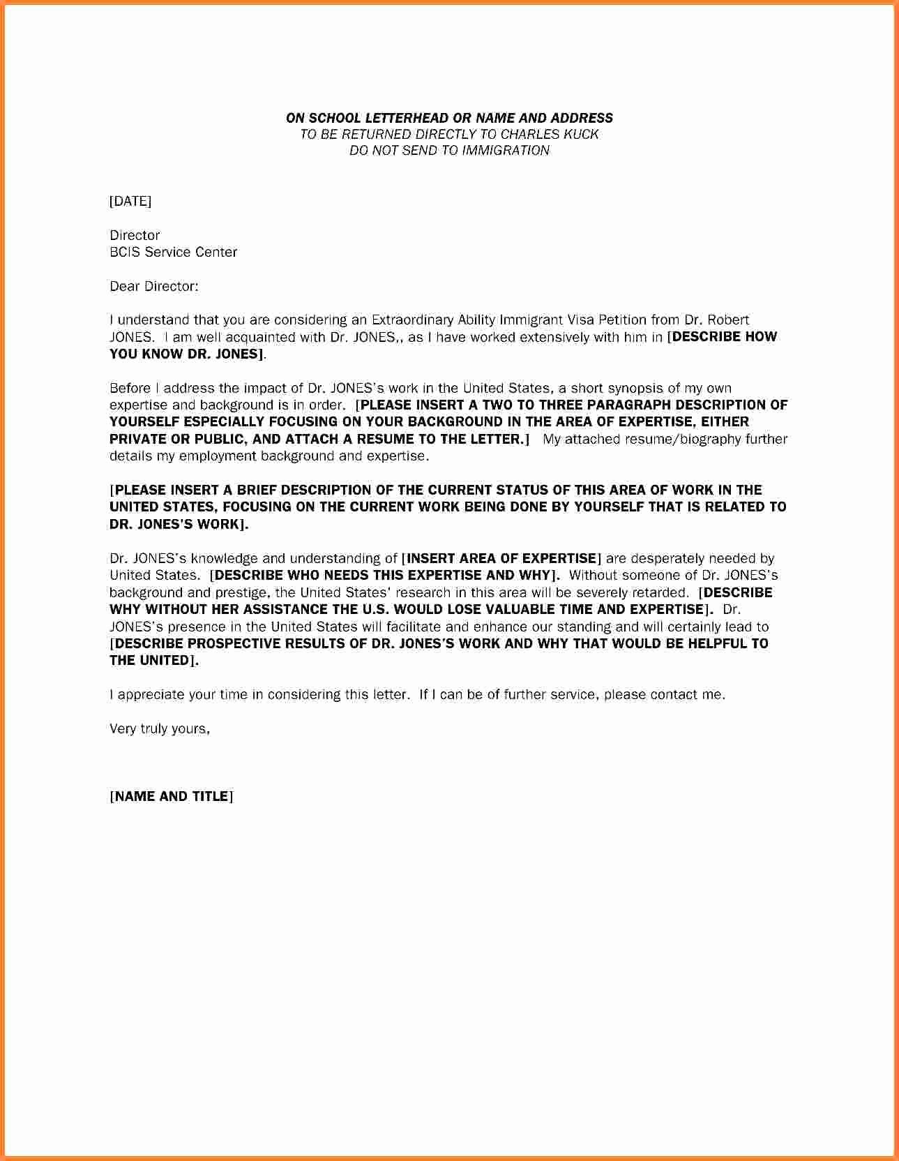 Immigration Letter for A Friend Elegant 8 9 Letter for A Friend for Immigration
