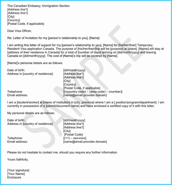 Immigration Letter for A Friend Unique Immigration Reference Letters 6 Samples & Templates