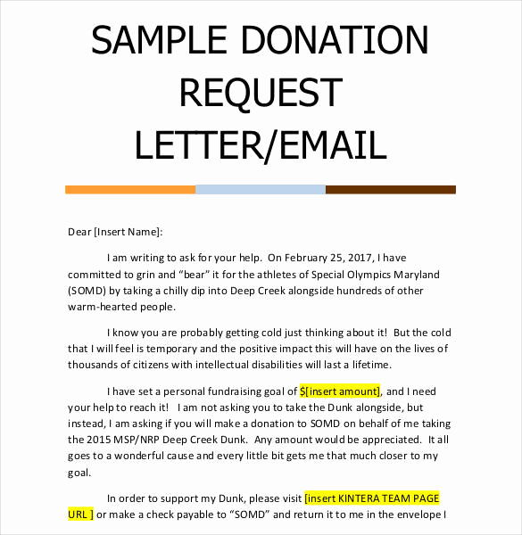 In Kind Donation Letter Awesome 29 Donation Letter Templates Pdf Doc