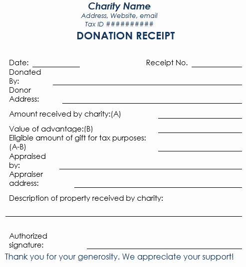 In Kind Donation Letter Best Of Donation Receipt Template 12 Free Samples In Word and Excel