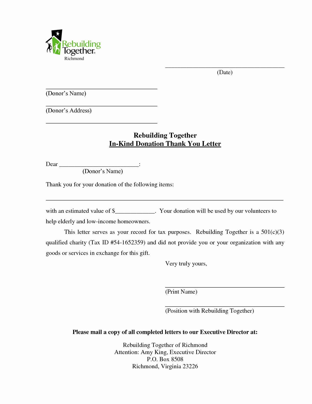 In Kind Donation Letter Luxury Sample Donation solicitation Letters